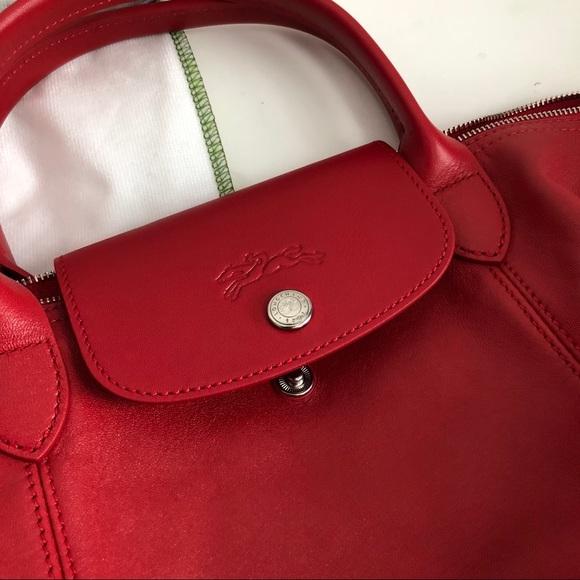 Longchamp Bags   Le Pliage Cuir Leather Bag   Poshmark a73280aa425